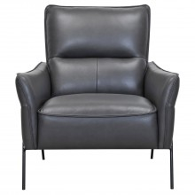 Asten Leather Accent Chair, Charcoal