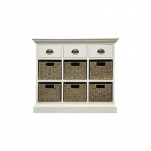 Winslow Three Drawer Six Basket Cabinet