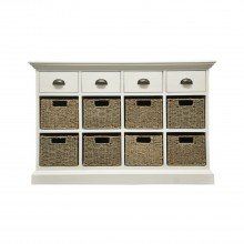 Winslow Four Drawer Eight Basket Cabinet