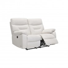 Indianna Two Seater Power Recliner Fabric Sofa, Shell