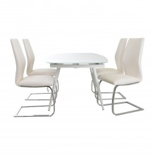 Casa Crystal Table & 4 Chairs