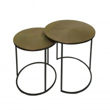 Apollo Nest Of 2 Tables - Gold