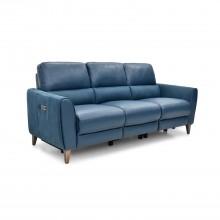 Casa Archie 3 Str Pwr Rec Ocean Lthr & Altara Denim Fab 3 Seat