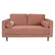 Aspire European Soho 2 Seater Sofa Roma Rose Velvet 2 Seat