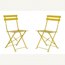 Garden Trading Pair Of Bistro Chairs Lemon