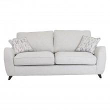 Casa Rosie 3 Seater Sofa Scatter Style Pastel/dk Foot
