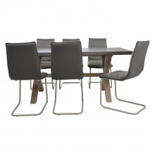 Casa Chilton Table & 6 Chairs Dining Set