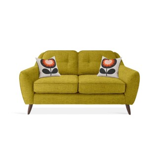 Orla Kiely Laurel Small Sofa 2 Seat, Eske Yellow Olive