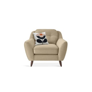 Orla Kiely Laurel Armchair Chair, Barrow Vintage Cream