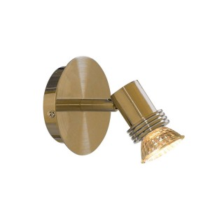 Decco Round Single Spot Light, Antique Brass