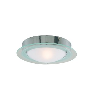 Bathroom Round Flush Light, Chrome