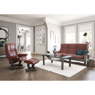 Stressless Windsor Three Seater High Back Leather Sofa