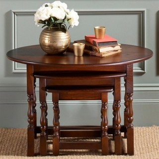 Old Charm Oval Nest of Tables