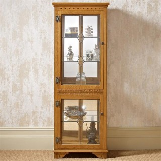 Old Charm Two Draw Display Cabinet with Light