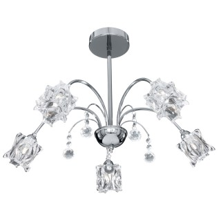 Fabia 5 Light Ceiling Light, Chrome