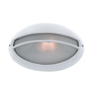 Searchlight Oval Bulkhead Outdoor Light, White