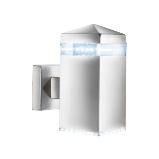 Searchlight LED Outdoor Wall Light, Satin Silver