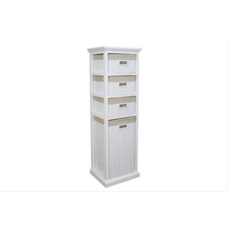 Casa 3 Drawer & Laundry Combo White Bamboo Unit