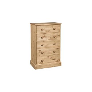 Cotswold 5 Drawer Chest, Waxed Pine
