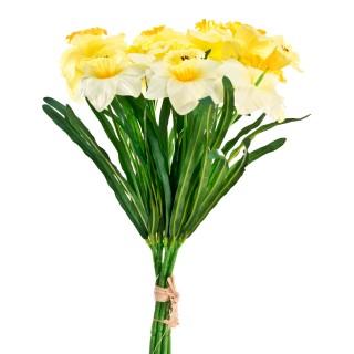 Daffodil Bundle with Raffia Yellow
