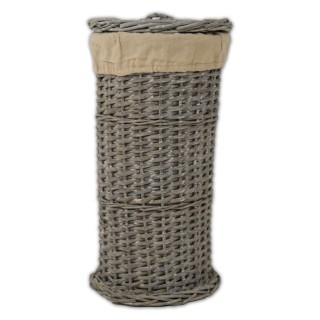 Casa Grey Round Willow Toilet Roll Holder