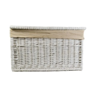 Casa Willow Medium Laundry Chest, White