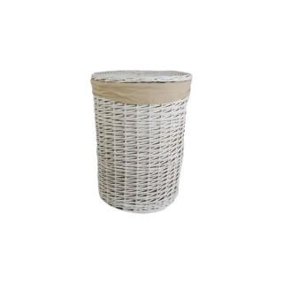 Casa Willow Round Basket Large, White
