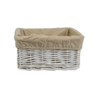 Casa Willow Storage Basket, White