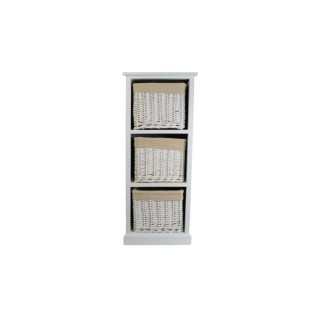 Casa Wood and Willow 3 Drawer Unit, White