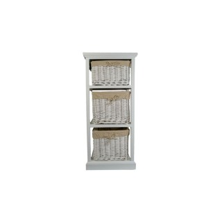 Casa Wood and Willow 3 Draw Tower, White