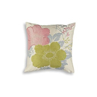 Thomas Fredrick Magnolia Cushion, Pink And Green