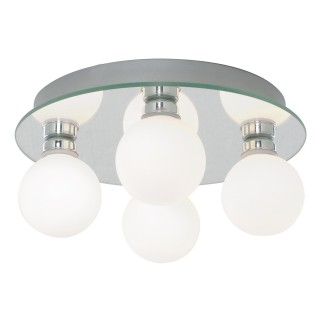 Flush 4 Light Ceiling Fitting, Chrome