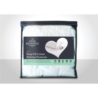 Fine Bedding Company Deep Fill Cotton Mattress Protector Double