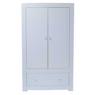 Casa Emily Double Wardrobe, White