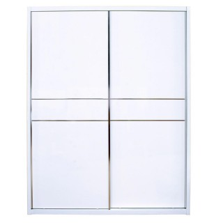 Casa Emily Sliding Door Wardrobe, White