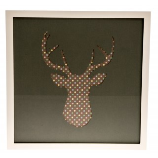 Casa Stags Head Grey / Pastel Spot, Multi