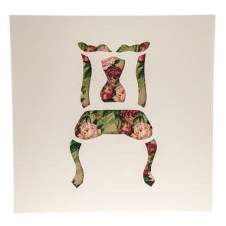 Casa Vintage Floral Chair Decoupage, White