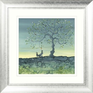 Catherine Stephenson Balancing Act Framed Art, Blue