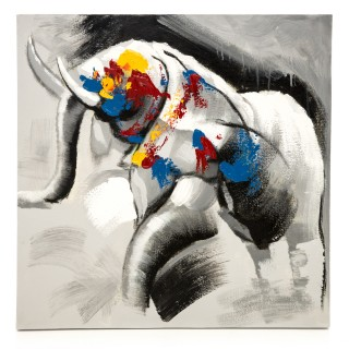 Casa Bull Elephant Canvas, Multi