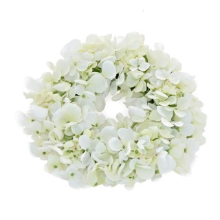 "Casa Hydrangea Wreath 7"", Cream"