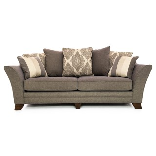 Casa Harvey 4 Seater Pillow Back Sofa, Mink