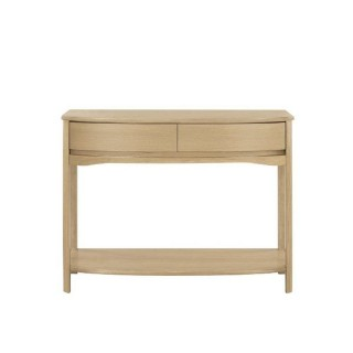 Nathan Furniture Limited Shades Shaped Console Table Consoletab, Oak