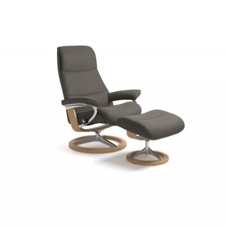 Stressless View Medium Chair & Stool