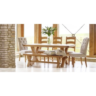 Corndell Fairford X Leg Table & 6 Chairs