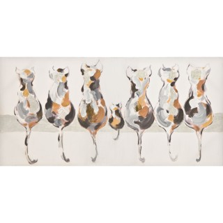 Casa Cats Tails Print, White