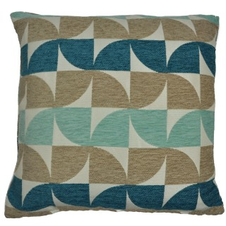 Mason Grey Windmill Cushion, Teal