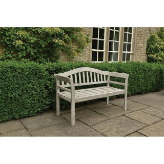 Woodlodge Queen Bench, White Wash