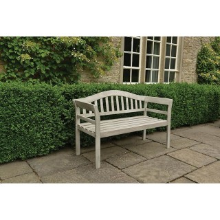 Woodlodge Queen Garden Bench, Whitewash