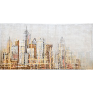 City Impression Oil Painting on Canvas