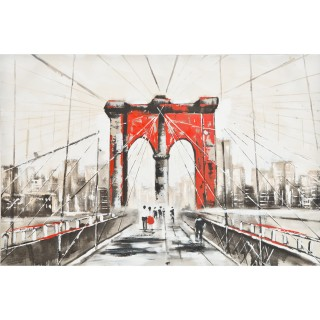 The Red Gates Oil Painting on Canvas